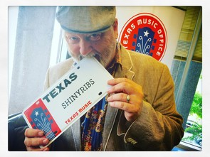 photo of shinyribs and texas music license plate