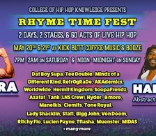 Rhyme Time Fest poster