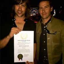 photo of brendon and rhett miller at old 97s county fair