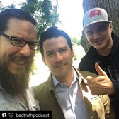 photo of brendon anthony with bad truth podcast guys