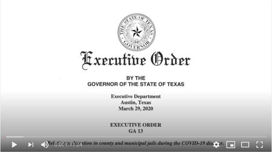 Governor Abbott's Executive Order #13