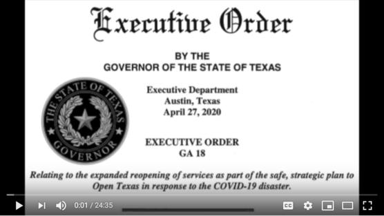 Executive Order #18