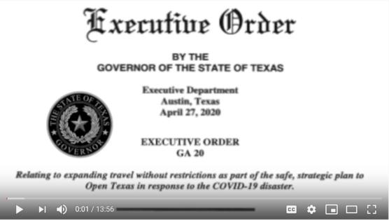 Executive Order #20