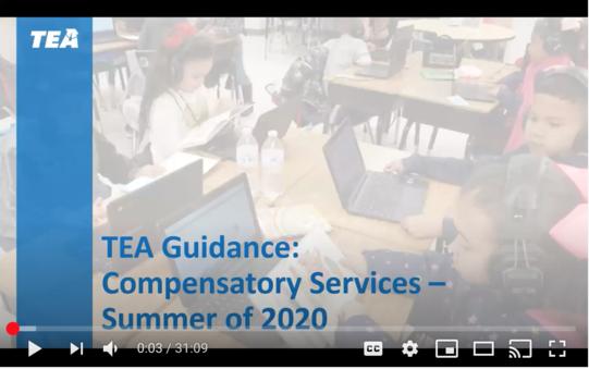 TEA Compensatory Services Webinar
