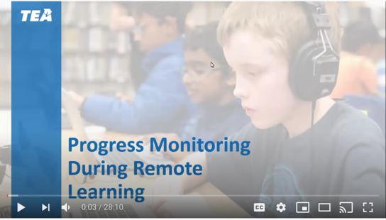 Progress Monitoring During Remote Learning Training Video