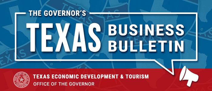 The Governor's Texas Business Bulletin, Economic Development and Tourism