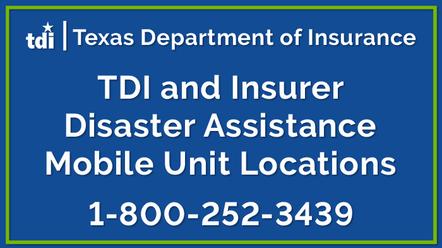 TDI, insurer mobile unit locations