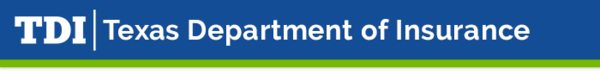 Texas Department of Insurance banner