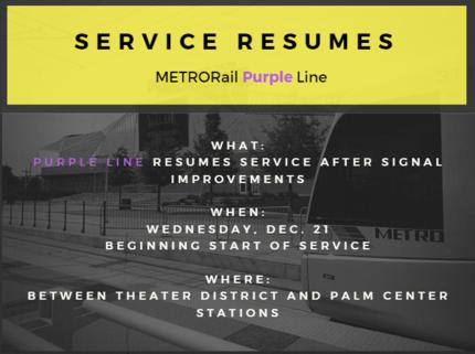 Purple line reopen