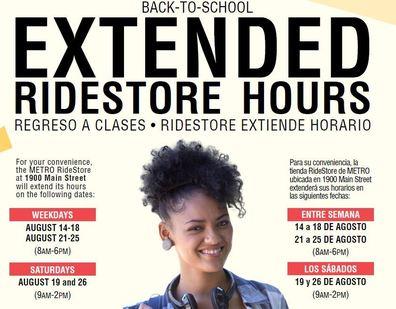 B2S RideStore Hours