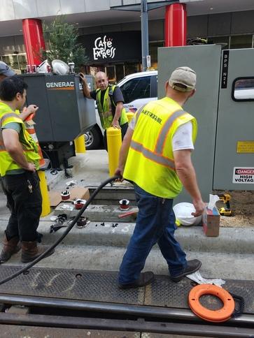 crews working