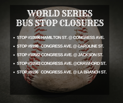 bus stop closures