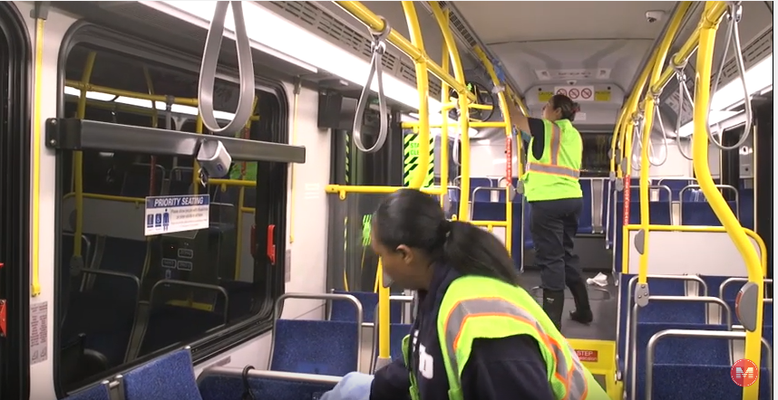 Bus Cleaning Video