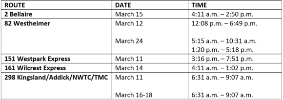 Revised Bus Operator Schedule