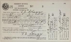 Old license