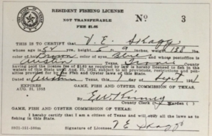 1951 Fishing License