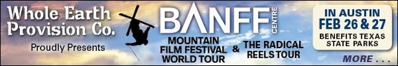 Banff Film Fest, benefiting Texas state parks