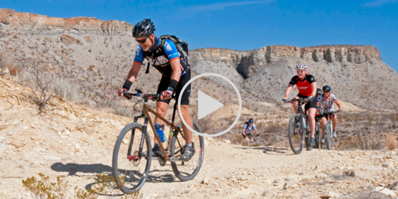 Mountain bikers in Big Bend Ranch State Park