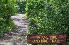 Nature walk and hike sign