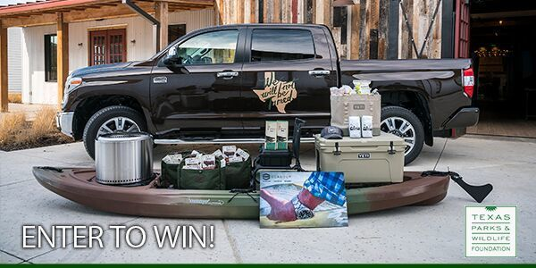 Tundra truck with other prizes in sweepstakes, link
