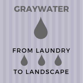 Graywater, from laundry to landscape