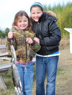 Kids with trout