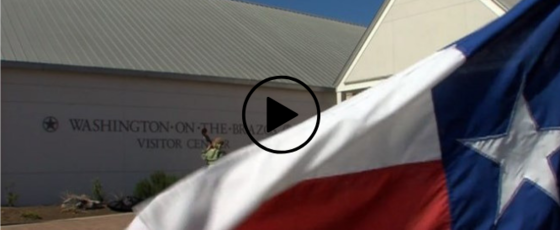 Texas flag at Washington-on-the-Brazos, link to video