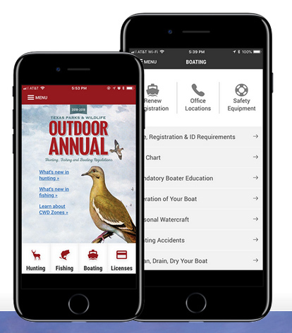 TPWD Outdoor Annual Phone App
