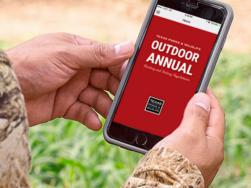 hunter holding OA app