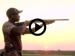 man holding shotgun at dawn, link to video