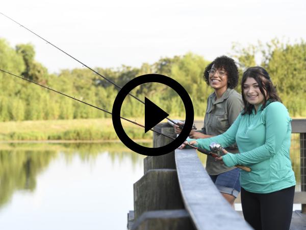 women fishing for trout