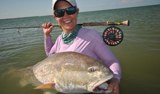 State Record Red Drum - Fly Fishing