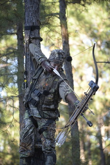 hunter with compound bow
