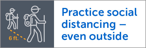 practice social distancing even when outside, with link