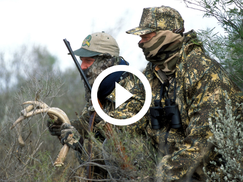 hunting duo in camo and masks, video link