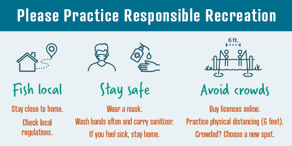 Be responsible and stay safe while fishing, graphic
