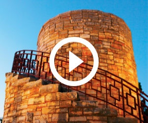 water tower at Mother Neff SP, video link