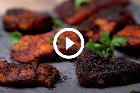 Blackened fish bites, video link