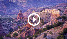 Palo Duro Canyon with view of Lighthouse rock, video link