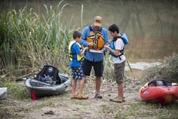 Young paddlers learn safety skills