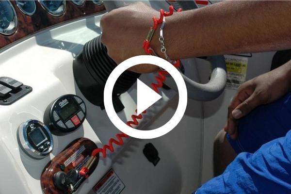 Engine cutoff switch on a boat