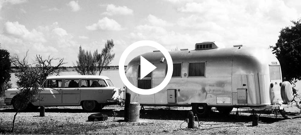 Vintage Airstream trailer and station wagon, video link