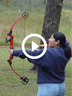 amateur bowhunter, with video link