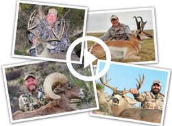 4 Grand Slam hunters with their harvest, video link