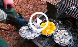 Biscuits in a Dutch oven, video link
