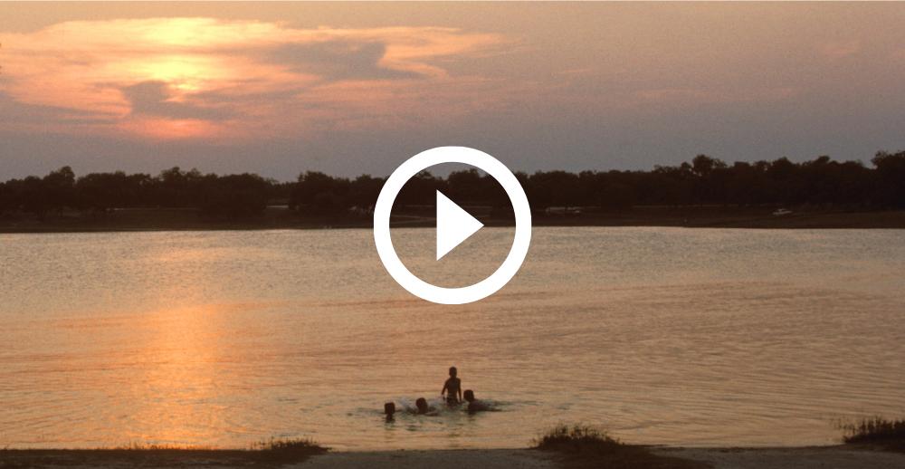 Lake Corpus Christi at sunset