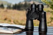Binoculars and Field Guide