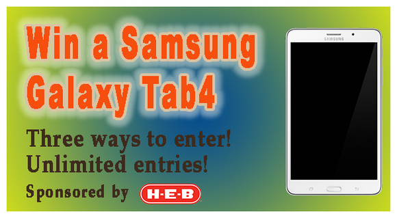 Enter for a chance to win a Samsung Galaxy Tab4!