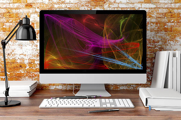 Computer with Screen Saver