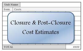 Closure & Post-Closure Cost Estimates Graphic